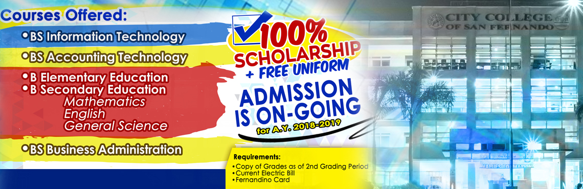 City College of San Fernando Admission