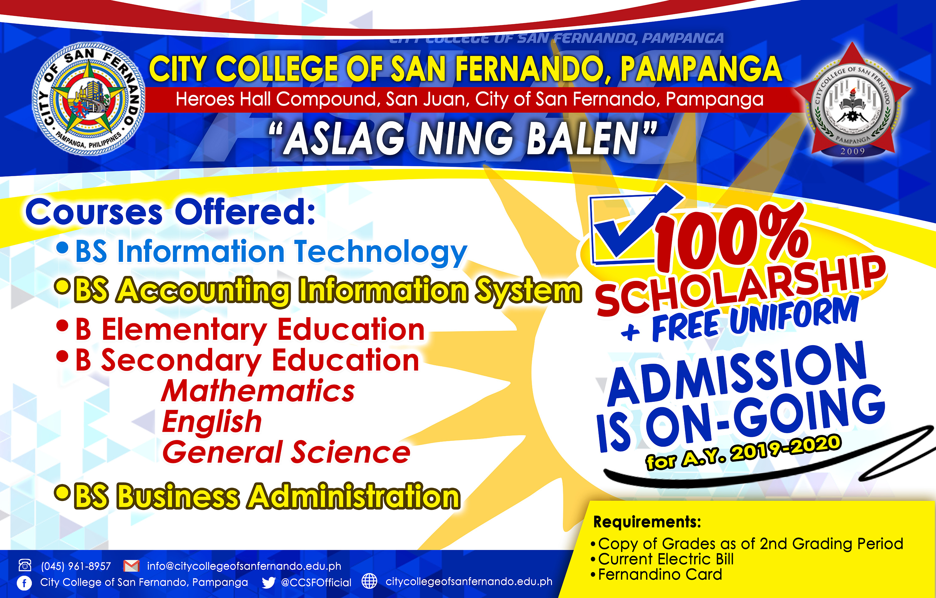 ADMISSION IS ON-GOING for 2019 - 2020